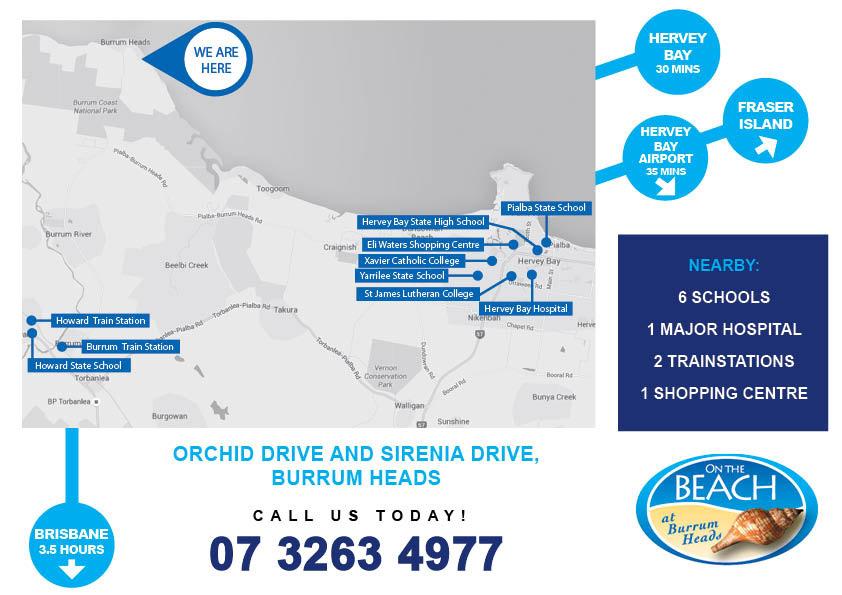 On The Beach Burrum Heads Location - Map